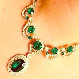 VTG Kramer of NY formal costume earrings/necklace